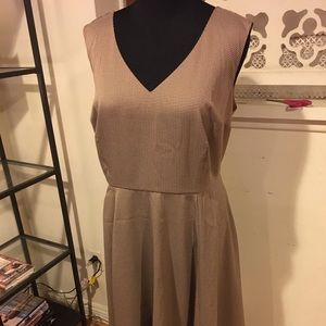 ModCloth Professional Tan Tweed Dress
